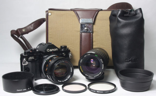A1 with bag and lenses