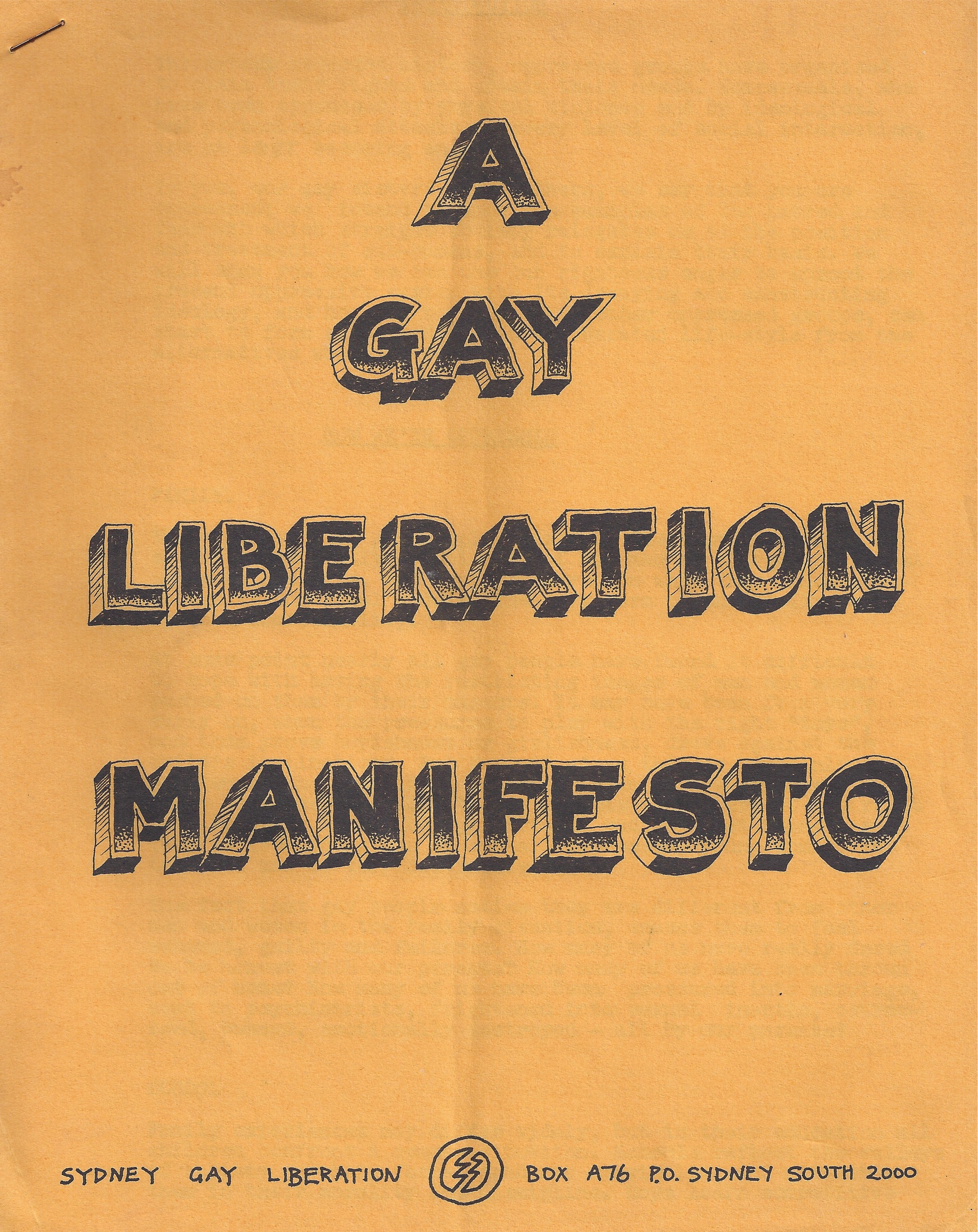 Sydney GLF Manifesto